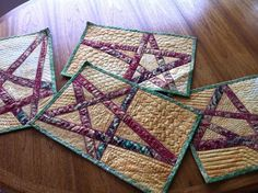 Inspired by Fabric: Christmas Star Place Mat Tutorial