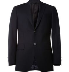 Canali Blue Wool Travel Blazer | MR PORTER - $1,350