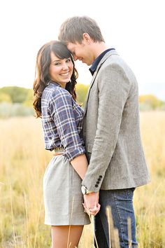 love this simple engagement pic except she needs to face the other way to show her ring