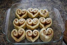 Valentines Day Heart Cinnamon Rolls