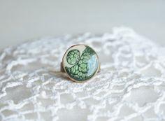Zielony - pierścionek