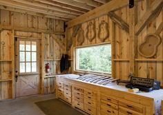 Custom wood barn interior    www.sandcreekpostandbeam.com  https://www.facebook.com/pages/Sand-Creek-Post-Beam-Traditional-Post-Beam-Barn-Kits/66631959179