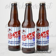 Trump HUGE Yuge Theme Celebration Birthday Graduation Cocktail Party Beer Bottle Labels - Digital File Only