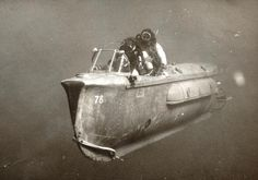 Underwater vehicle in use by the Israeli Commando unit, 1967