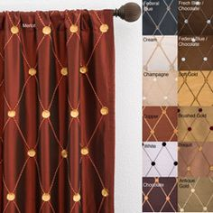 fall/winter drapes in antique gold