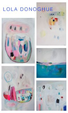 Abstract paintings by Lola Donoghue | melaniebiehle.com #art #abstract #color