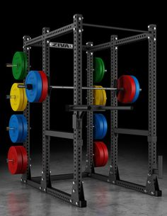 Ziva-XP-Power Rack Training Equipment, No Equipment Workout, Diy Power Rack, Home Gym Design, Gym Room, Garage Gym, At Home Gym, Powerlifting, Locker Storage