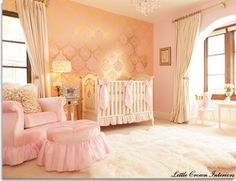 Baby Nursery. I am sooo in love this wall covering!! Absolutely doing this if I ever have a girl