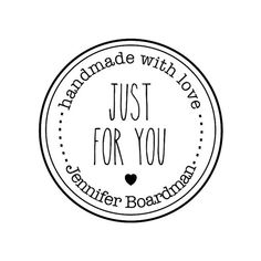 """CUSTOM HANDMADE with LOVE rubber stamp - personalized stamp, stationary stamp, envelope stamp, card stamp, tag stamp, 1.8""""x1.8"""" (CHM11)"""
