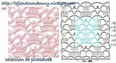 PATRONES - CROCHET - GANCHILLO - GRAFICOS: PUNTOS Y SUS GRAFICOS O PATRONES =TEJIDO CROCHET O GANCHILLO