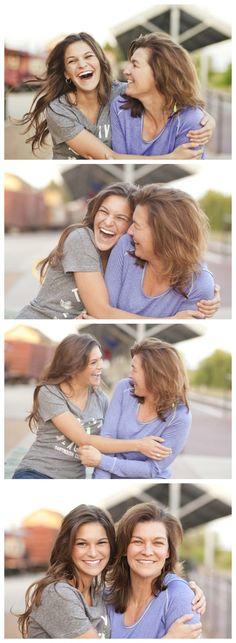 Fun mother daughter pics on senior shoot.  Click for 28 senior poses!  www.Lisa-Marie-Photogrpahy.com, Lisa McNiel