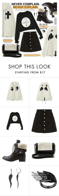 """""""Black and White"""" by katjuncica ❤ liked on Polyvore featuring moda, AG Adriano Goldschmied, Charlotte Russe, Big Buddha, Belk & Co. y bhalo"""