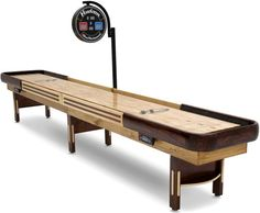 The Grand Hudson Deluxe Shuffleboard Table Is The Result Of Master  Craftsmanship Combined With State Of The Art Electronics And Topped Off  With A Classic ...