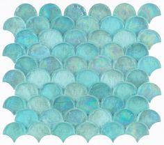 Ceramic Mosaic Tile, Mosaic Wall Tiles, Mosaic Glass, Backsplash Tile, Splashback Tiles, Stained Glass, Mermaid Tile, Mermaid Scales, Turquoise Tile