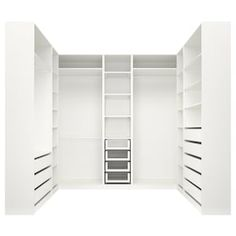 PAX Corner wardrobe - white stained oak effect - IKEA Ikea Pax Closet, Ikea Pax Wardrobe, Closet Storage, Closet Organization, Wardrobe Storage, Ikea White Wardrobe, Organization Ideas, Brimnes Wardrobe, Ikea Closet System