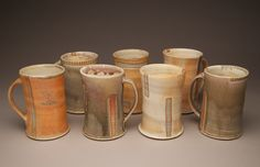 Logan Hunter wood fired beer steins/ tankards/ large coffee mugs