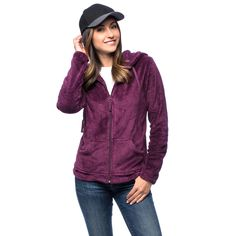 Be cool and warm at the same time with La Cera Women's Luxury Plush Heather Hooded Fleece Jacket