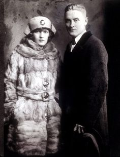 Zelda and Scott Fitzgerald.  Re-reading The Great Gatsby for the fourth time.  It's still wonderful!