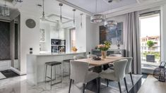 Piękna kuchnia: wnętrza w klasycznym stylu - Galeria - Dobrzemieszkaj.pl Kitchen, Table, Furniture, Home Decor, Cooking, Decoration Home, Room Decor, Tables, Home Furnishings