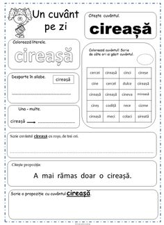 Printable Worksheets, Printables, Preschool At Home, Fun Crafts For Kids, School Lessons, Word Of The Day, After School, 4 Kids, Vocabulary