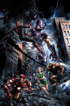 Artwork from the Marvel universe. Marvel Dc Comics, Marvel Avengers Assemble, Marvel Villains, Marvel Comic Universe, The Avengers, Comics Universe, Marvel Art, Marvel Memes, Marvel Characters