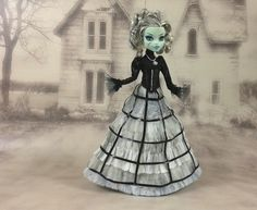 Monster High outfit long white shabby victorian by JonnaJonzon