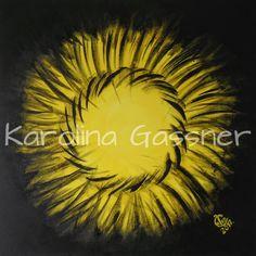 """""""Yellow Circles"""" by Karolina Gassner © acrylic on canvas, cm. Acrylic Paintings, Circles, Canvas, Yellow, Tela, Canvases"""
