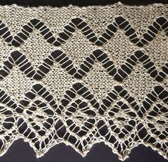 Diamond Lace from The Ladies' Guide to Elegant Lace Patterns, 1884 ~~