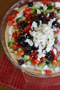 Little Broken | Mediterranean Layered Dip | http://www.littlebroken.com