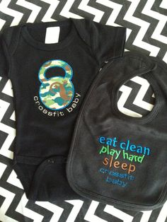 Crossfit Baby Kettlebell Jumper and Matching by iamcollection2, $25.99