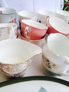 Tea cups and jugs