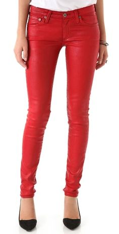 AG Adriano Goldschmied The Leatherette Legging Jeans// Just for valentine's day and that's it...