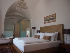 Schlosshotel Mailberg Top Place, Spaces, Bed, Furniture, Home Decor, Environment, Decoration Home, Stream Bed, Room Decor