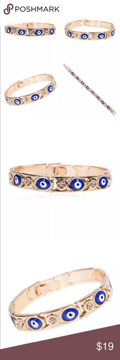 New Item✨ Evil Eye Bracelet ✨ ✨ Fashion Jewelry ✨ Alloy, Gold Plated, Crystal & Rhinestones ✨ New Trendy Style  ✨ Perfect for Music Festivals, Coachella, Raves, Country Festivals    Brand New✨ PRICE IS FIRM- already listed at lowest price  If you want to save please look into bundling  In Stock No Trades NO HOLDS  Will ship within 24- 48 hours Monday-Friday (Friday orders will ship on the following business day)    Bundle one or more items from my boutique to only pay one shipping fee✨…