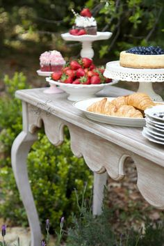 FRENCH COUNTRY COTTAGE: Entertaining~ a party in the garden- dessert table, kitchen, home, decor, idea, party