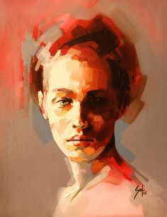 "Artist: Solly Smook; Oil 2013 Painting ""Fragment 1"""