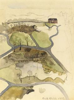 Frida Kahlo (1907-1954), View of Central Park, 1932. Watercolor and pencil on paper, 10½ x 8in. (26.7 x 20.3cm.)