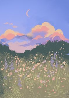 this one's for you, louis theroux - Gouache Painting Wallpaper Pastel, Anime Scenery Wallpaper, Aesthetic Pastel Wallpaper, Kawaii Wallpaper, Aesthetic Wallpapers, Wallpaper Backgrounds, Painting Wallpaper, Iphone Wallpaper Food, Moomin Wallpaper