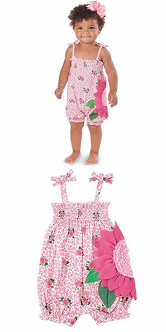 Mud Pie Baby Girl One Piece Bubble, Multi, 3-6 Months