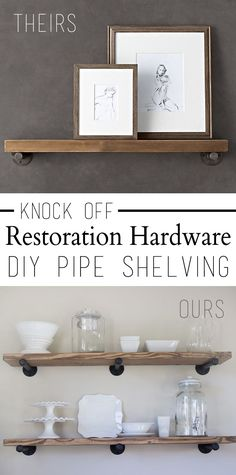 How To: DIY Knock Off Restoration Hardware Industrial Pipe Shelving by Over The Big Moon