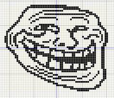 Trollface cross stitch pattern. Flawless.