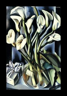 Calla Lillies, 1941; art deco painting by Polish artist Tamara de Lempicka