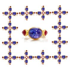 Ruby and Tanzanite Sapphire, Shoe Bag, Rings, Polyvore, Accessories, Shoes, Jewelry, Design, Women