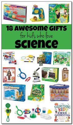 18 of the best, most awesome gifts for kids who love science. Budding scientists ages 3 and up will find something to love among these awesome gifts for science-loving kids. || Gift of Curiosity