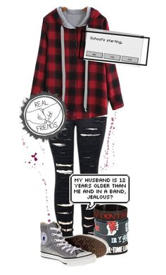 """""""So what if I'm crazy? The best people are"""" by thepenguinprincess ❤ liked on Polyvore featuring 2LUV and Converse"""