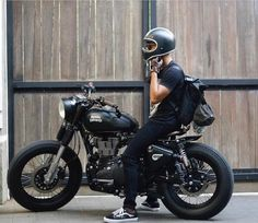 Royal Enfield via Agus Style is ageless . Royal Enfield via Agus Mahard … Style is ageless . Royal Enfield via Agus Mahard - Cafe Racer Bikes, Cafe Racer Motorcycle, Motorcycle Style, Motorcycle Outfit, Cafe Racers, Cafe Bike, Bobber Bikes, Women Motorcycle, Motorcycle Helmets