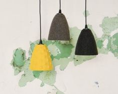 Minimalist felt lampshades for pendant lamps Beton Design, Pendant Lamps, Lampshades, Minimalist, Felt, Trending Outfits, Unique Jewelry, Handmade Gifts, Etsy
