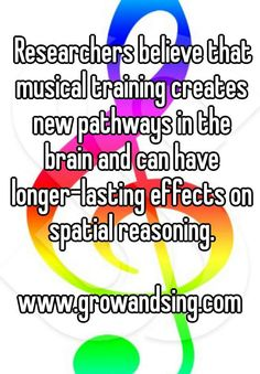 can have longer-lasting effects on spatial reasoning.  #music #musicquote #musiceducationquotes #musicfact