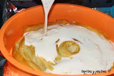 Tapitas y Postres: Ruffled milk pie. Scones, Icing, Food And Drink, Cooking Recipes, Ice Cream, Pudding, Pasta Filo, Desserts, Top Recipes