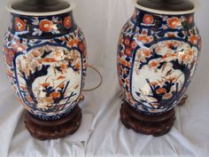 19th Century Japanese Imari Lamps from embellishantiques on Ruby Lane